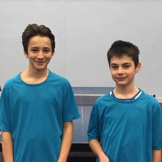 Lubin Hideux et Dimitri Lyonnet qualifiés pour le championnat départemental UNSS de tennis de table